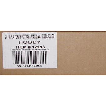 2010 Panini National Treasures Football Hobby 4-Box Case