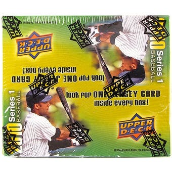 2010 Upper Deck Baseball 24-Pack Box