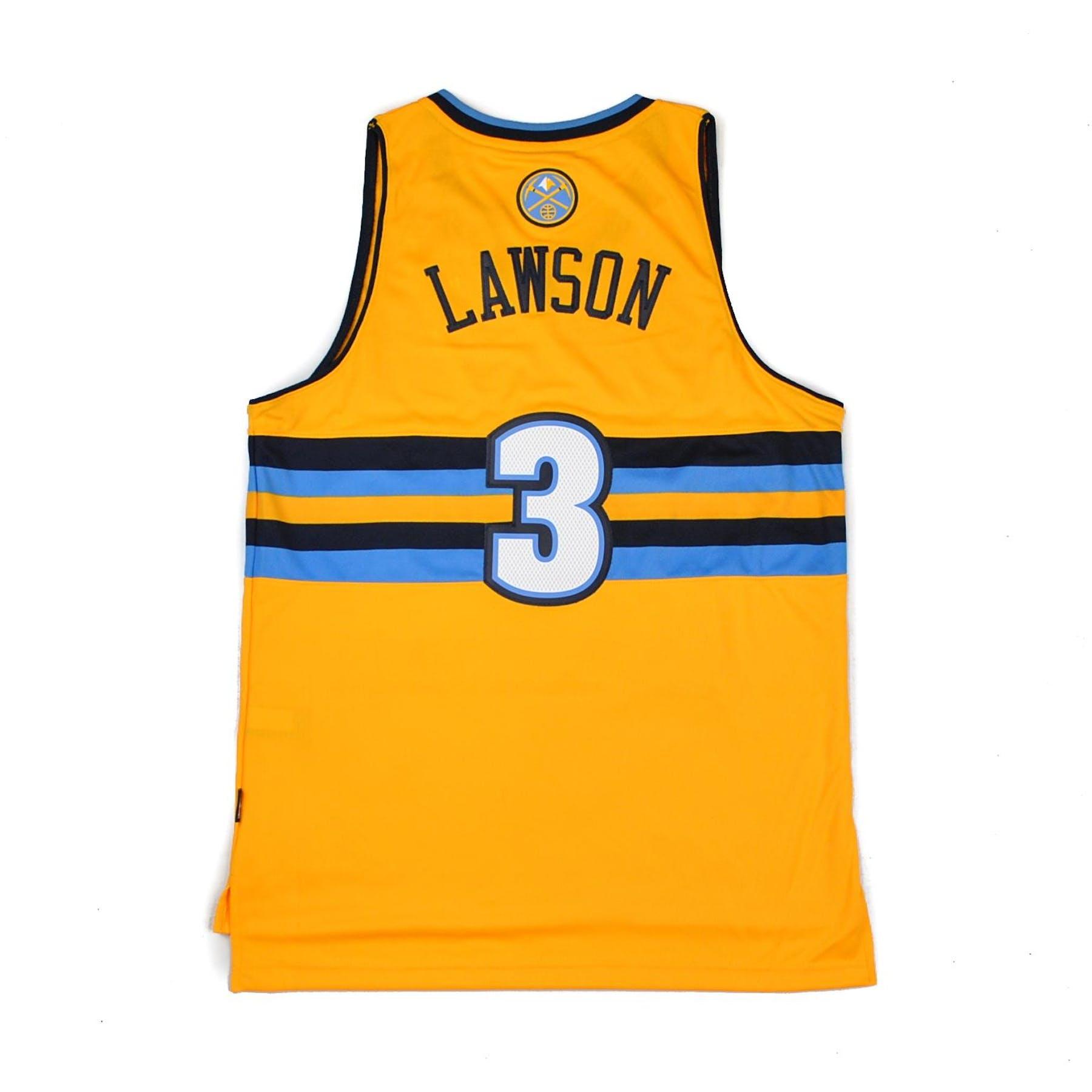 Adidas Denver Nuggets 3 Stripe Jacket: Denver Nuggets Ty Lawson Adidas Gold Swingman #3 Jersey
