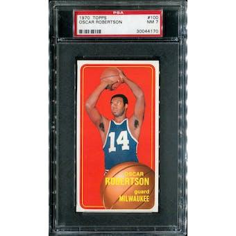 1970/71 Topps Basketball #100 Oscar Robertson PSA 7 (NM) *4170