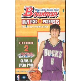 2005/06 Bowman Draft Picks And Prospects Basketball Hobby Box