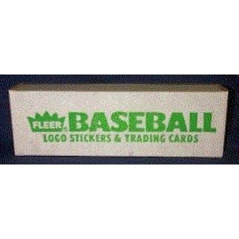 1988 Fleer Baseball Factory 15 Set Case
