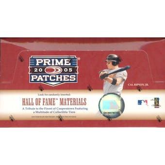 2005 Donruss Prime Patches Baseball Hobby Box