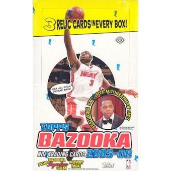2005/06 Topps Bazooka Basketball Hobby Box