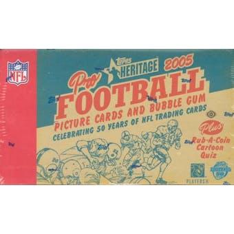 2005 Topps Heritage Football Hobby Box