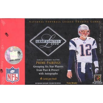 2005 Leaf Limited Football Hobby Box