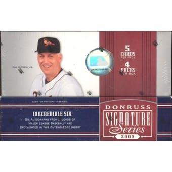 2005 Donruss Signature Series Baseball Hobby Box