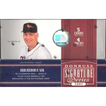 2005 Donruss Signature Series Baseball Hobby Box