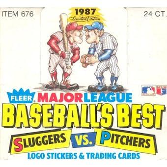 1987 Fleer Limited Edition Sluggers vs. Pitchers Baseball Wax Box