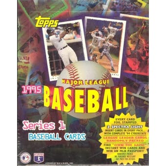 1995 Topps Series 1 Baseball Rack Box