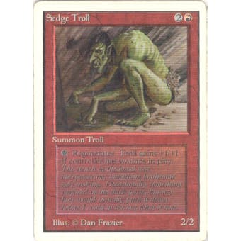 Magic the Gathering Unlimited Single Sedge Troll - MODERATE PLAY (MP)