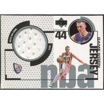 1998/99 Upper Deck Game Jerseys #GJ6 Keith Van Horn White