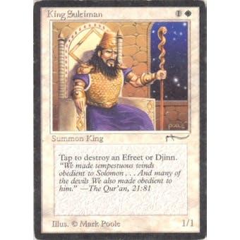 Magic the Gathering Arabian Nights Single King Suleiman - MODERATE PLAY (MP) Sick Deal Pricing
