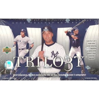 2005 Upper Deck Trilogy Baseball Hobby Box