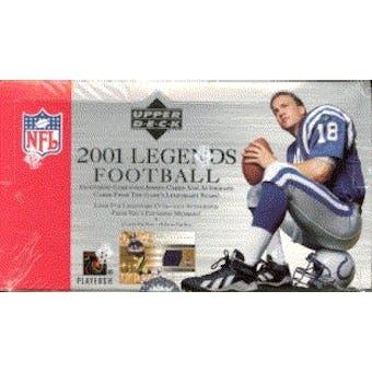 2001 Upper Deck Legends Football Hobby Box