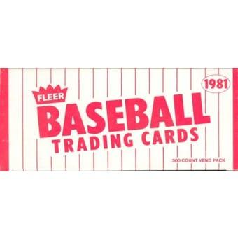 1981 Fleer Baseball Vending Box (Reed Buy)
