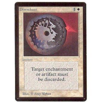 Magic the Gathering Beta Single Disenchant - SLIGHT PLAY (SP)