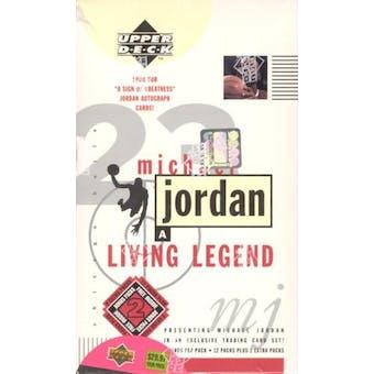 1998/99 Upper Deck Michael Jordan Living Legend Basketball Blaster Box