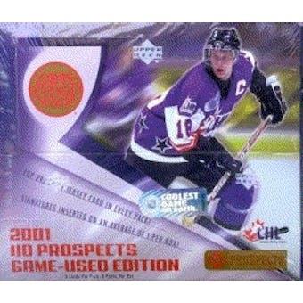 2001/02 Upper Deck CHL Game Used Edition Hockey Box