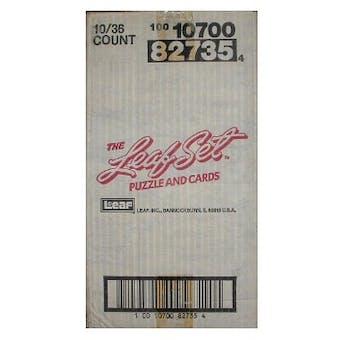 1990 Leaf Series 1 Baseball Hobby 10-Box Case