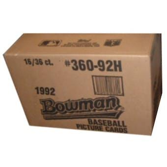 1992 Bowman Baseball Hobby 16-Box Case