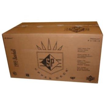 1993 Upper Deck SP Baseball Hobby 18-Box Case