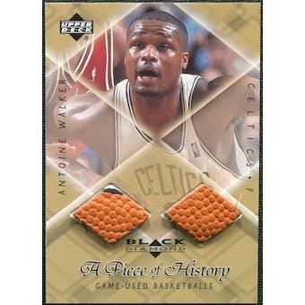 1999/00 Upper Deck Black Diamond A Piece of History Double #AW Antoine Walker