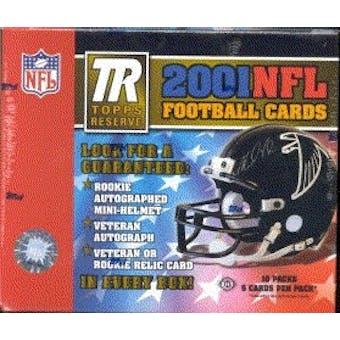 2001 Topps Reserve Football Hobby Box