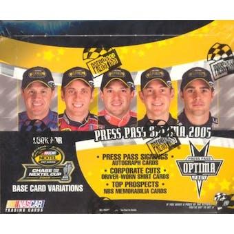 2005 Press Pass Optima Racing Hobby Box