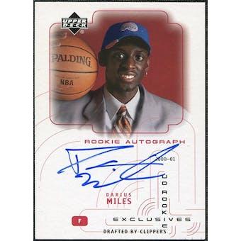 2000/01 Upper Deck SPx Authentics Rookie Exclusives #DM Darius Miles Autograph