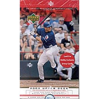 2002 Upper Deck Series 1 Baseball Hobby Box