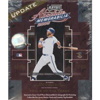 2005 Playoff Absolute Memorabilia Update Baseball Hobby Box