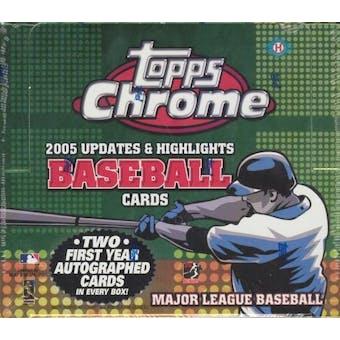 2005 Topps Chrome Updates & Highlights Baseball Hobby Box