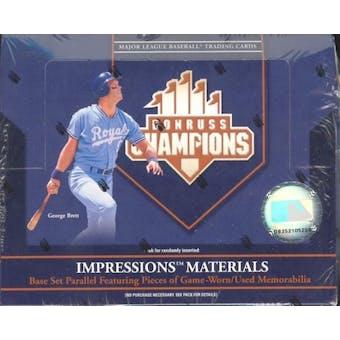 2005 Donruss Champions Baseball Hobby Box