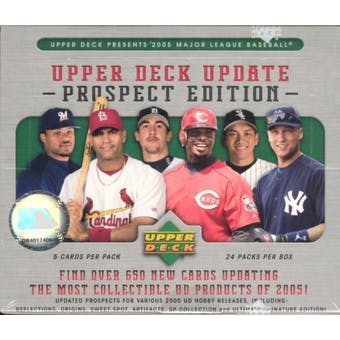 2005 Upper Deck Update Prospect Edition Baseball Hobby Box