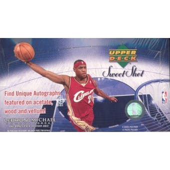2005/06 Upper Deck Sweet Shot Basketball Hobby Box