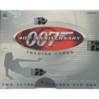 James Bond 007 40th Anniversary Trading Cards Box (Rittenhouse 2002)
