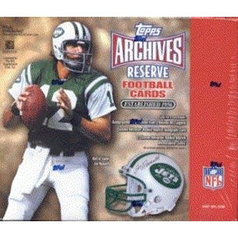 2001 Topps Archives Reserve Football Hobby Box