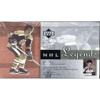2001/02 Upper Deck Legends Hockey Hobby Box