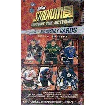 2001/02 Topps Stadium Club Relic Edition Hockey Hobby Box