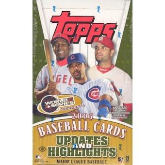 2005 Topps Updates & Highlights Baseball Hobby Box