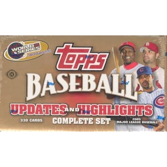 2005 Topps Updates & Highlights Factory Hobby Set Baseball (Box)