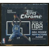 2003/04 Topps Chrome Basketball 24 Pack Retail Box