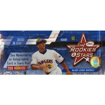 2001 Leaf Rookies & Stars Baseball Hobby Box