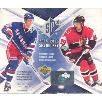 2005/06 Upper Deck SPx Hockey Hobby Box