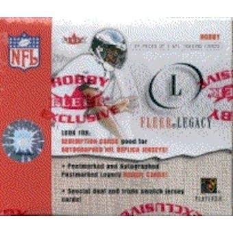 2001 Fleer Legacy Football Hobby Box