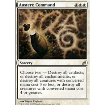 Magic the Gathering Lorwyn Single Austere Command Foil NEAR MINT