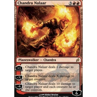 Magic the Gathering Lorwyn Single Chandra Nalaar FOIL - SLIGHT PLAY (SP)