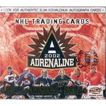 2001/02 Pacific Adrenaline Hockey Hobby Box