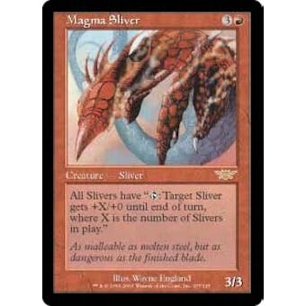 Magic the Gathering Legions Single Magma Sliver Foil